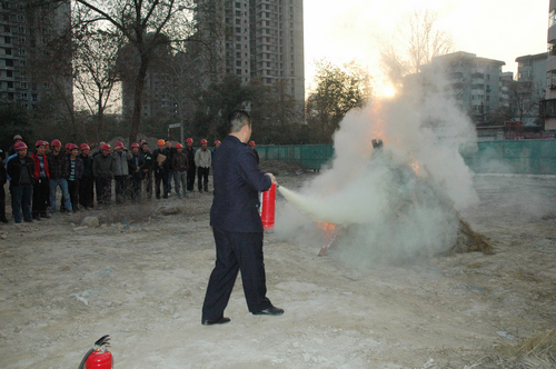 仁恒美林郡项目工地消防演练